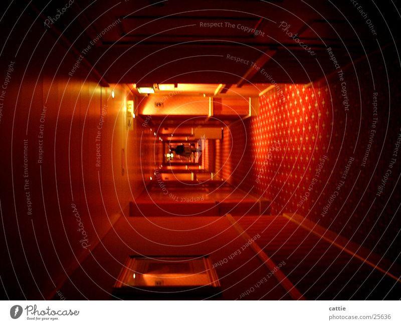 tunnel vision Sleep Countless Dark Hallway Loneliness Hotel Infinity Tunnel Tunnel vision Gloomy Go off Story In transit Flee Photographic technology overnight