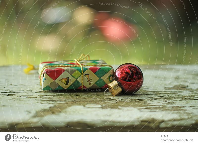 Christmas & Advent Old Environment Wood Small Moody Feasts & Celebrations Glittering Lie Gift Round Kitsch String Sphere Glitter Ball Surprise