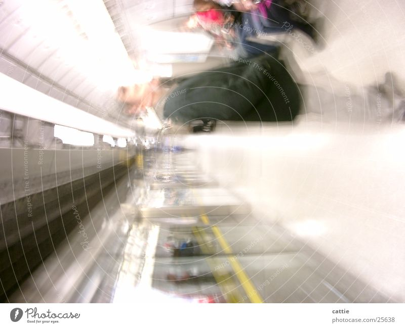 Vacation & Travel Loneliness Bright Transport Sit Wait Beginning Electricity Railroad Soft Railroad tracks Tunnel Underground London Station Neon light