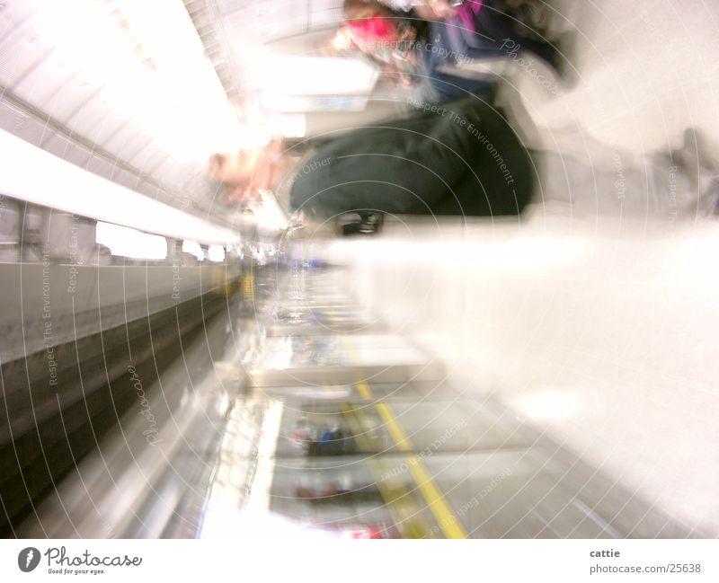 Vacation & Travel Loneliness Bright Transport Sit Wait Beginning Electricity Railroad Soft Railroad tracks Tunnel Underground London Station Neon light