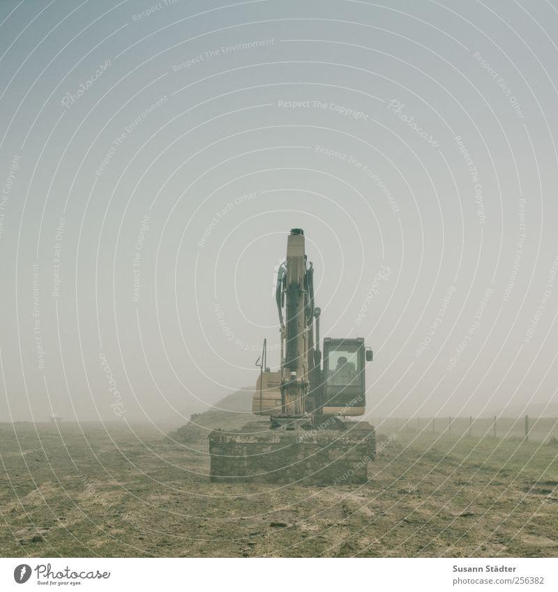 Dyke construction   Spiekeroog Machinery Telecommunications Industry Means of transport Road traffic Lanes & trails Build Excavator Excavator shovel