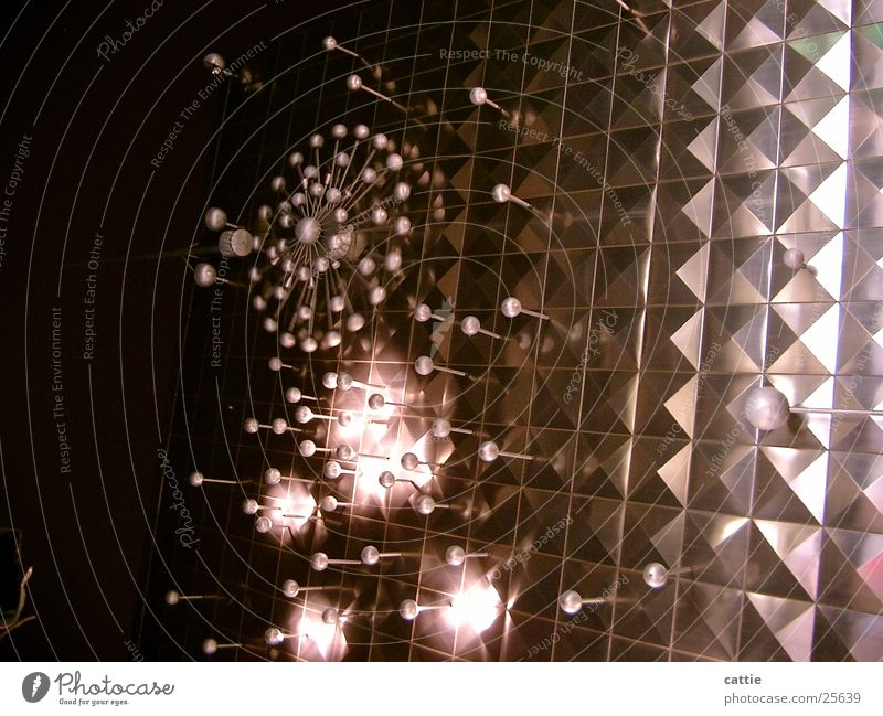 Lamp Lighting Metal Glittering Modern Fantastic Cologne Obscure Whimsical Extraterrestrial Night shot Light object