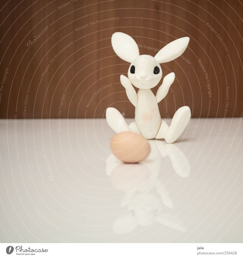 ei, ei, ei... Egg Animal Hare & Rabbit & Bunny Decoration Kitsch Odds and ends Toys Figure Easter Easter Bunny lay eggs Joy Magician Colour photo Interior shot