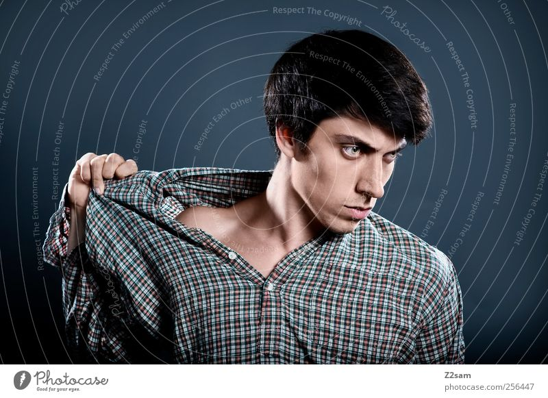 torn Elegant Style Human being Masculine Young man Youth (Young adults) 1 18 - 30 years Adults Actor Hair and hairstyles Black-haired Touch Think Dream