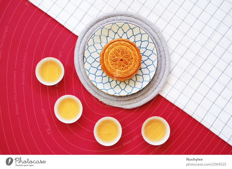 Flat lay of chinese moon cake Dessert Tea Style Design Happy Beautiful Decoration Feasts & Celebrations Art Culture Fashion Fresh Hot Hip & trendy Delicious