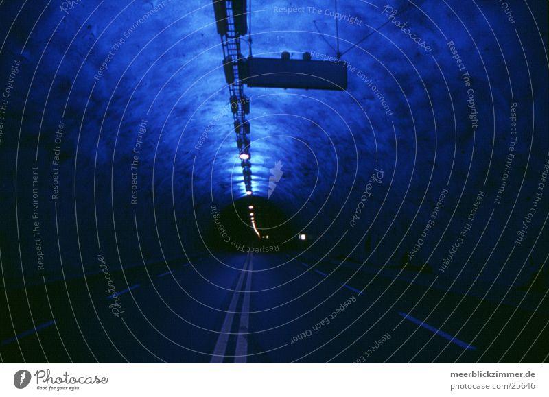 Street Transport Europe Light Stop Infinity Tunnel Norway Scandinavia Warning light