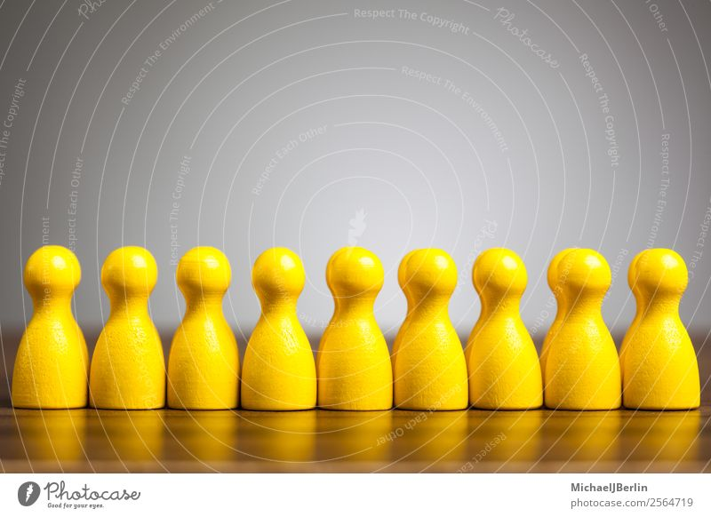 Concept Uniformity, Uniform, Common Group Yellow Equal Teamwork Symbols and metaphors concept uniformity Consistent Identity Together Society egalitarianism