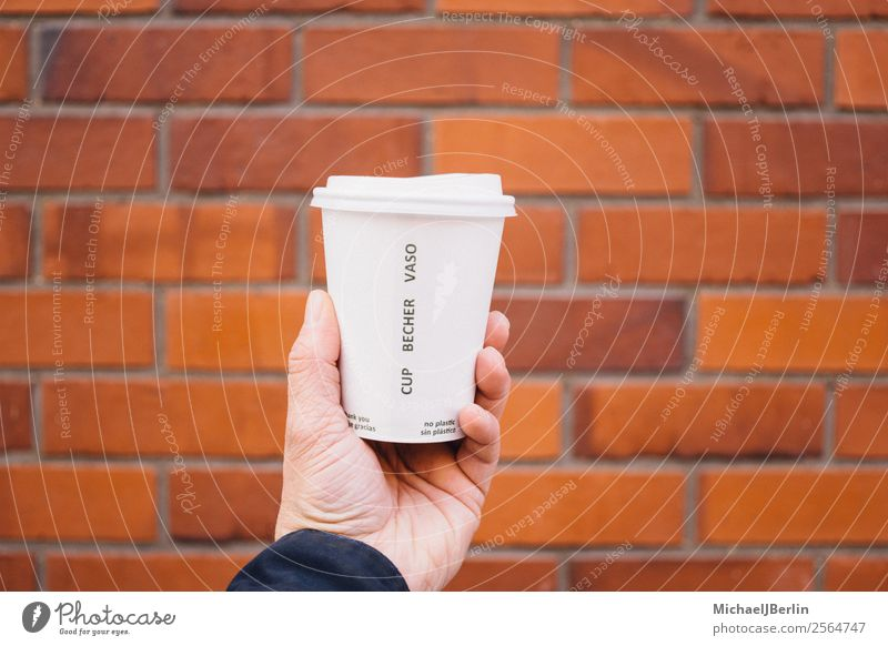 Human being Hand Environment Germany Hamburg Coffee Plastic Trash Environmental protection Material In transit Environmental pollution Recycling Problem
