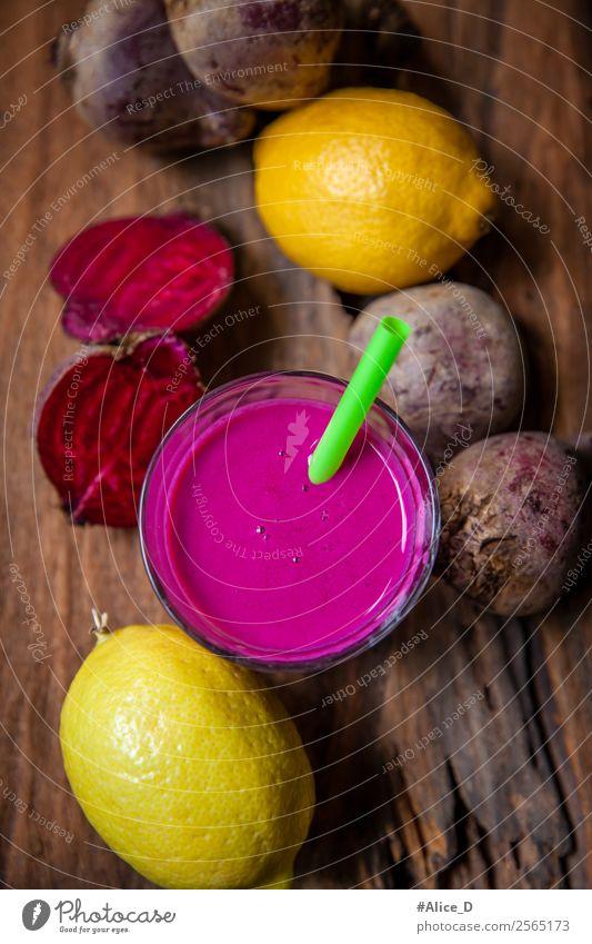 Beetroot and lemon smoothie Food Yoghurt Vegetable Fruit Red beet Rapes Lemon Nutrition Breakfast Vegetarian diet Diet Fasting Beverage Juice Glass Lifestyle