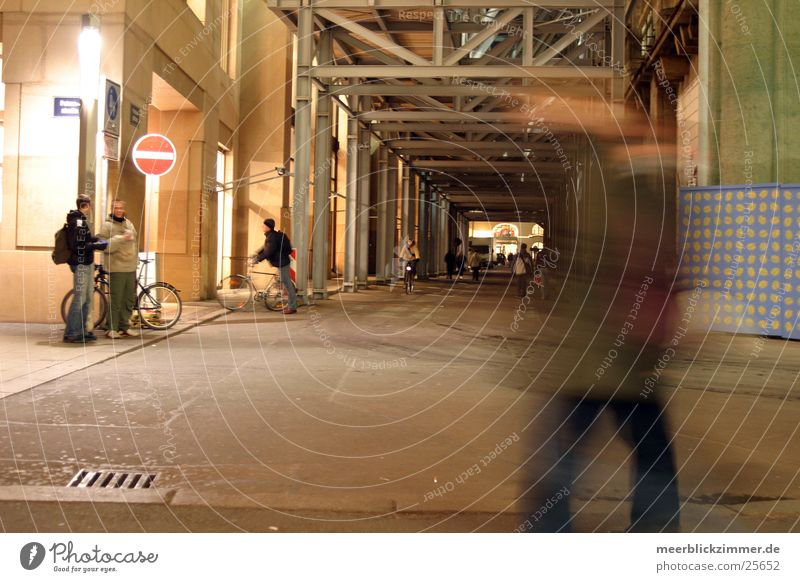 Street Architecture Movement Construction site Leipzig Pedestrian Scaffold Saxony