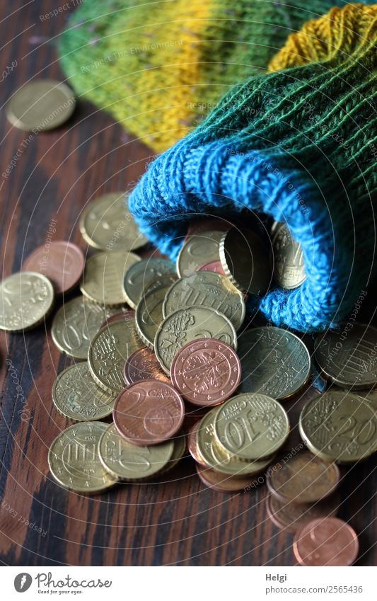 Green Yellow Small Exceptional Brown Lie Beginning Poverty Uniqueness Money Round Stockings Euro Endurance Financial Industry Coin