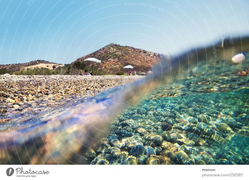 Sky Nature Water Vacation & Travel Ocean Summer Beach Landscape Coast Waves Natural Authentic Summer vacation Wanderlust Bottom of the sea Sea level