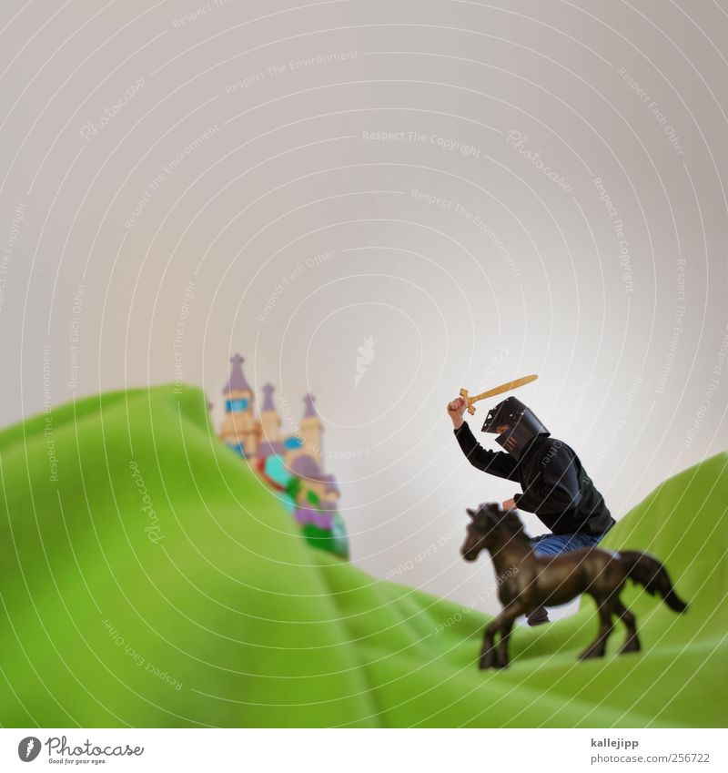 ivanhoe Lifestyle Human being Masculine Man Adults 1 Environment Nature Landscape Hill Mountain Farm animal Horse Animal Ride Knight Castle Medieval times Sword
