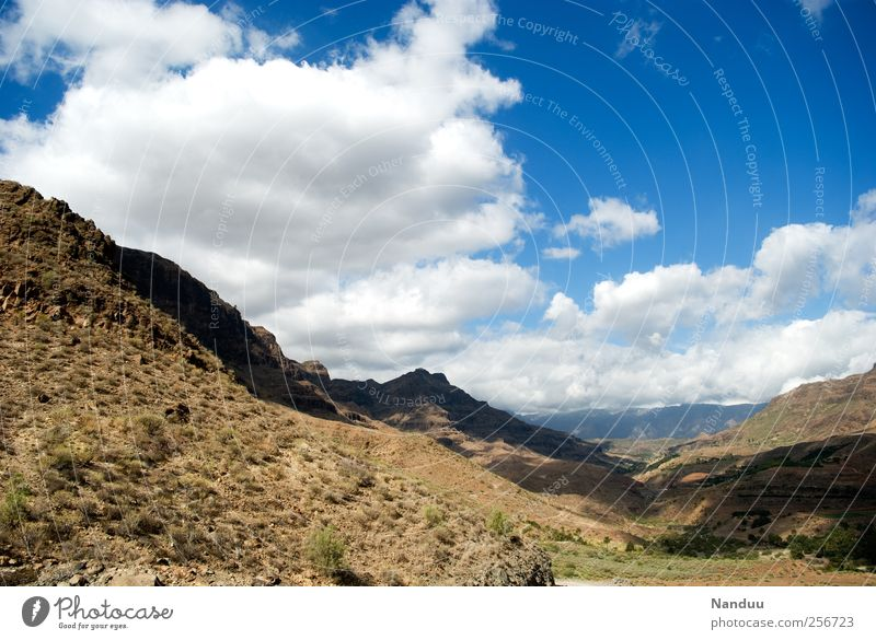 Vacation & Travel Landscape Far-off places Mountain Rock Free Spain Dry Valley Steppe Canaries Gran Canaria