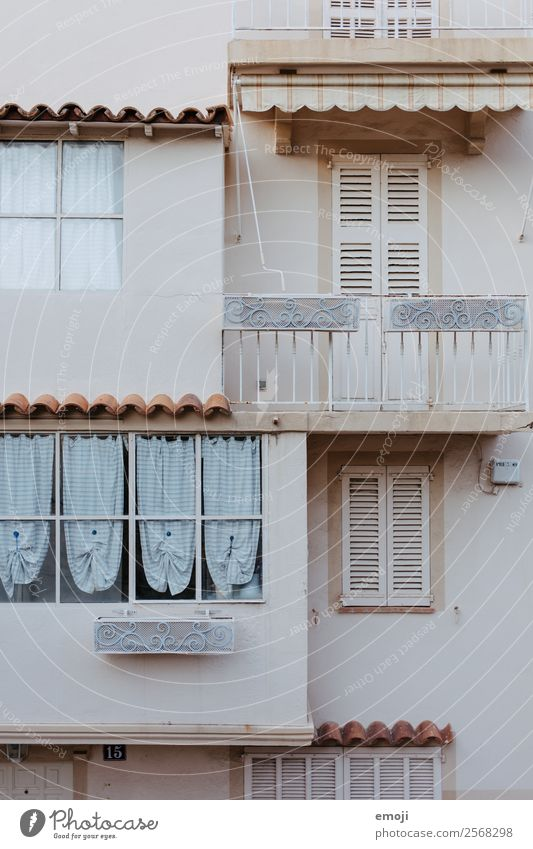 Cannes Town House (Residential Structure) Wall (barrier) Wall (building) Facade Balcony Window Old Bright Colour photo Subdued colour Exterior shot Detail