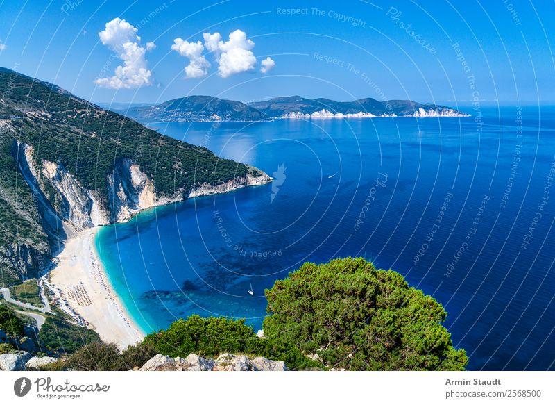 Beach of Myrtos, Kefalonia Lifestyle Exotic Joy Happy Harmonious Well-being Contentment Senses Relaxation Calm Vacation & Travel Tourism Trip Adventure