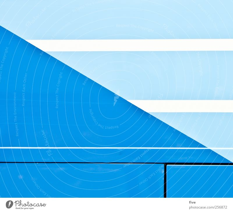 Vienna Town Means of transport Passenger traffic Vehicle Bus Clean Blue White Line Structures and shapes Colour photo Exterior shot Detail Abstract Pattern
