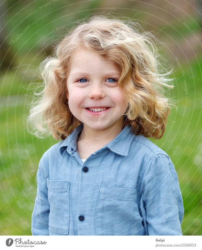Adorable small blond child in a park Lifestyle Joy Face Playing Child Human being Baby Boy (child) Man Adults Infancy Grass Park Smiling Laughter Happiness Hot