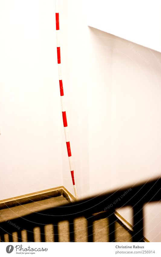 White Red Above Bright Line Work and employment Stairs Signs and labeling Signage String Stripe Safety Protection Construction site Logistics Plastic