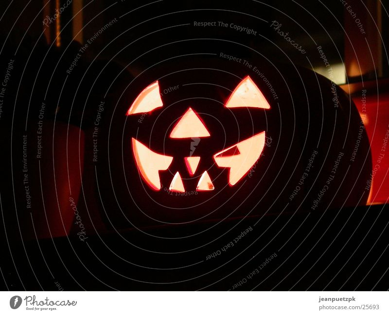 Face Lamp Obscure Hallowe'en Frightening Pumpkin