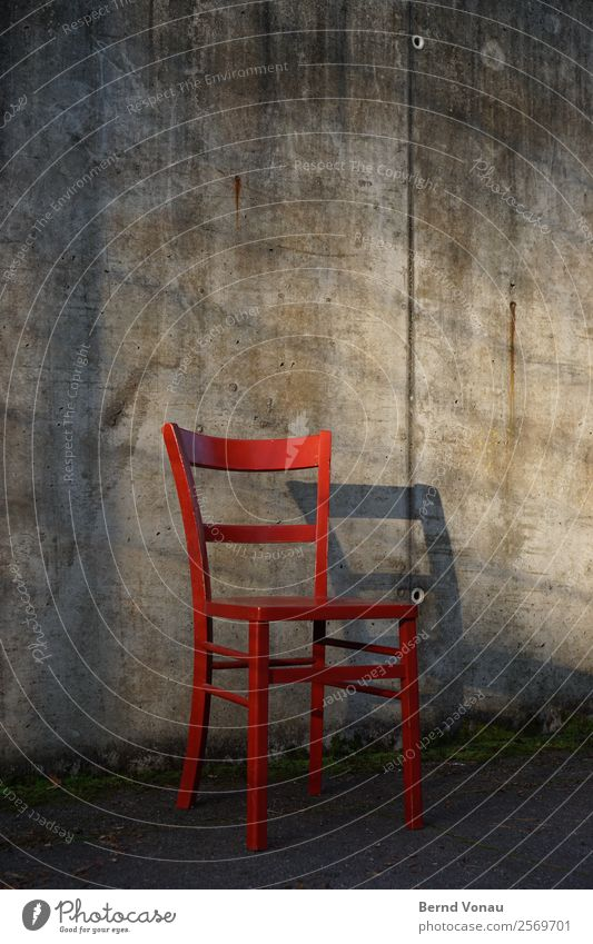 Old Wall (building) Wood Gray Retro Authentic Empty Wait Concrete Chair Vintage