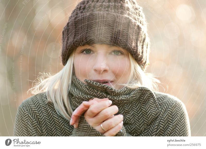 Human being Nature Youth (Young adults) Hand Beautiful Winter Adults Face Autumn Feminine Life Cold Environment Air Weather