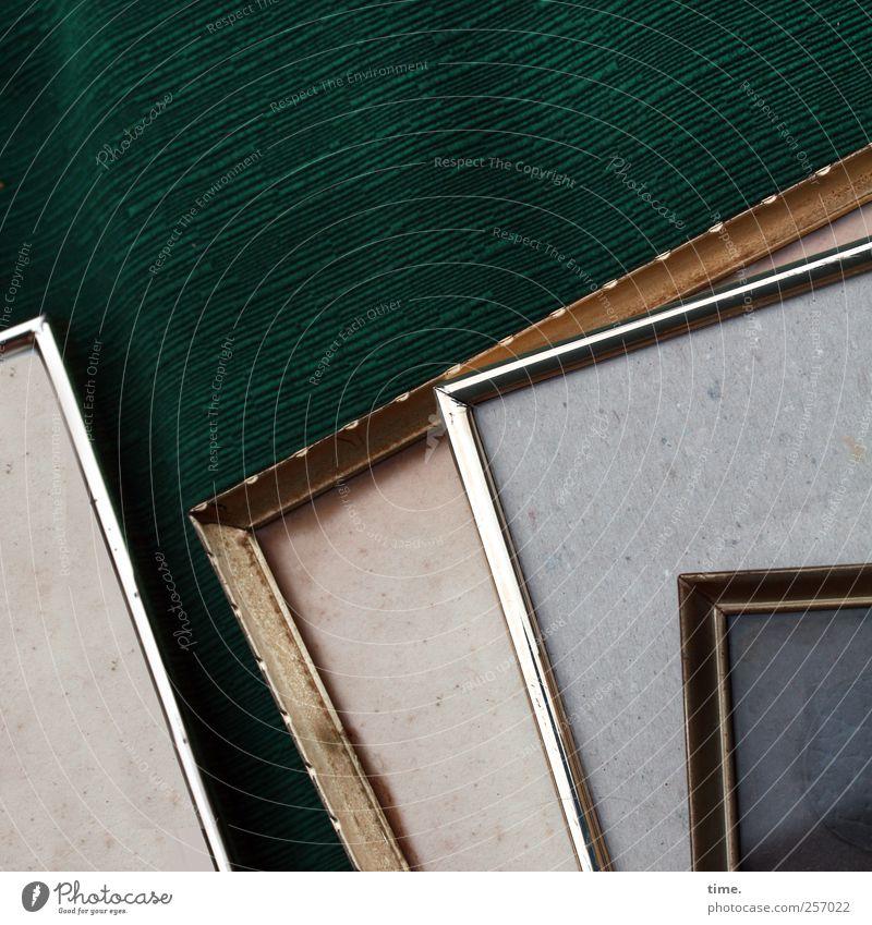 Green Art Glass Glittering Esthetic Shopping Corner Transience Cloth Kitsch Frame Silver Textiles Sharp-edged Picture frame Rag