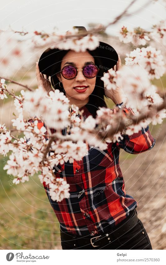 Girl Woman Human being Nature Beautiful White Tree Red Flower Face Adults Blossom Natural Happy Style Garden Fashion