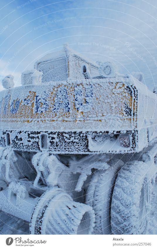 Sky Blue White Winter Black Yellow Cold Snow Ice Esthetic Gloomy Frost Near Freeze Excavator