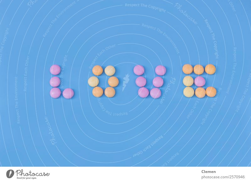 Candy Love letters Food candy sweets Wallpaper Eating Valentine's Day Delicious Sweet Blue Yellow Pink colorful horizontal shot nikon d750 Letters (alphabet)