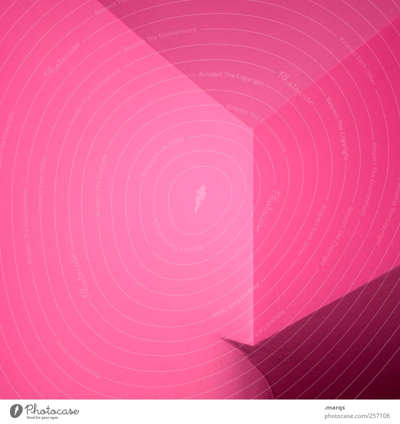 Colour Style Pink Background picture Elegant Interior design Design Modern Perspective Lifestyle Cool (slang) Illuminate Illustration Hip & trendy Geometry Sharp-edged