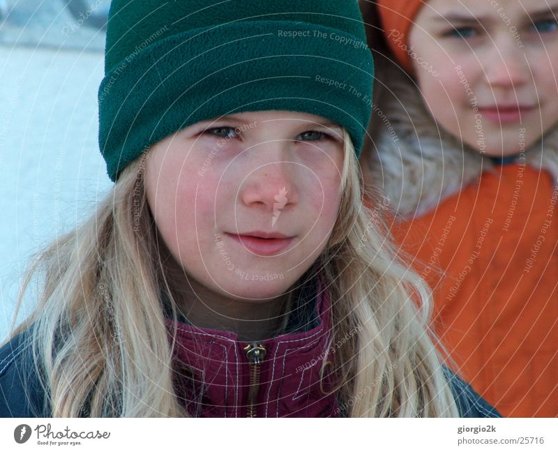 Child Girl Winter Cold Snow Cap