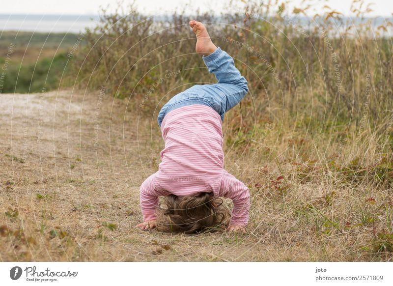 yoga exercise Athletic Fitness Life Well-being Vacation & Travel Trip Yoga Gymnastics Child Toddler 1 Human being 1 - 3 years Nature Summer Beach dune Healthy
