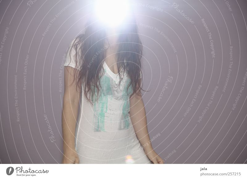 Human being Woman Adults Feminine Hair and hairstyles Exceptional Bright Uniqueness T-shirt Angel Long-haired Gigantic Brilliant Feasts & Celebrations Light