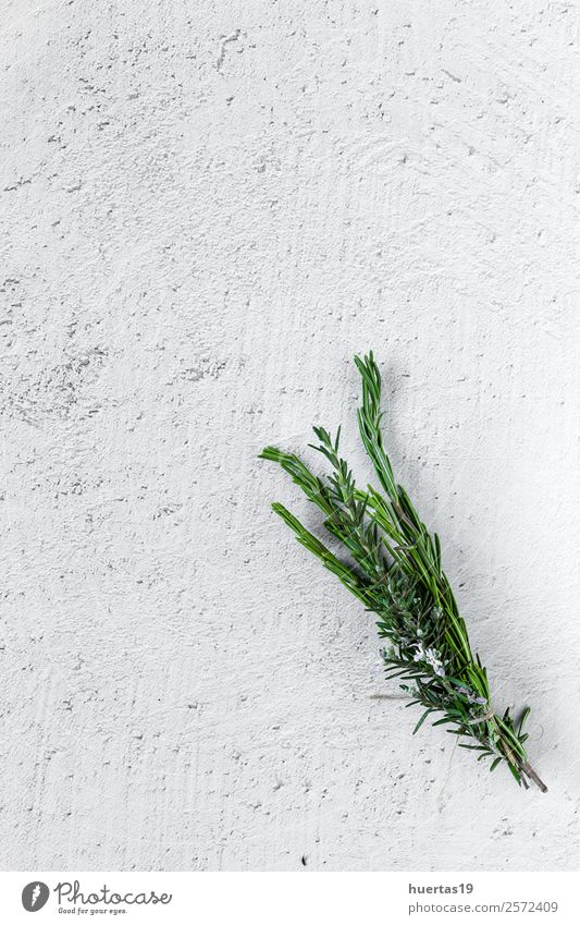 Aromatic herbs. Flat lay. Food Vegetable Herbs and spices Garden Art Plant Fresh Delicious Natural Above Sour Green aromatics flat lay Parsley Rosemary thyme