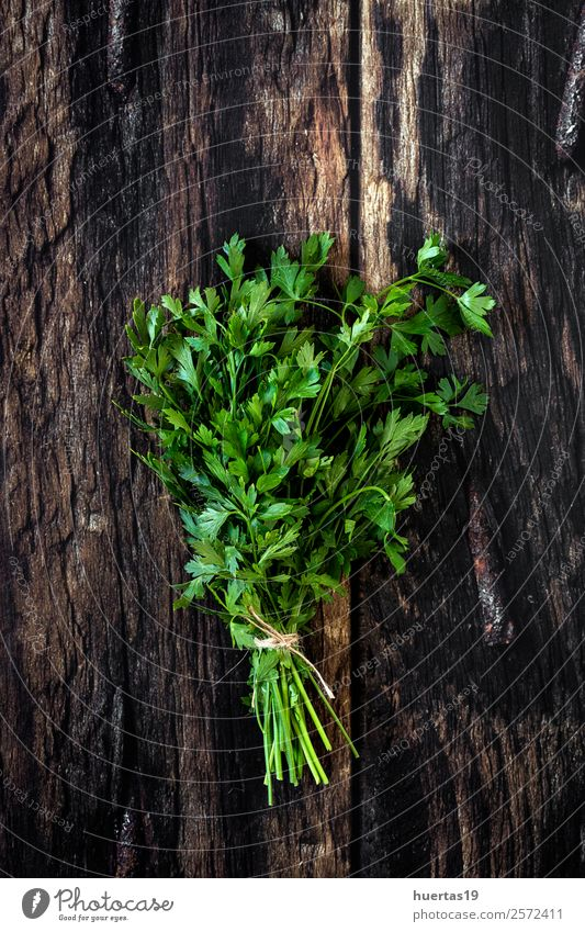 Aromatic herbs. Flat lay. Food Vegetable Herbs and spices Organic produce Vegetarian diet Garden Art Plant Fresh Delicious Natural Above Sour Green aromatics