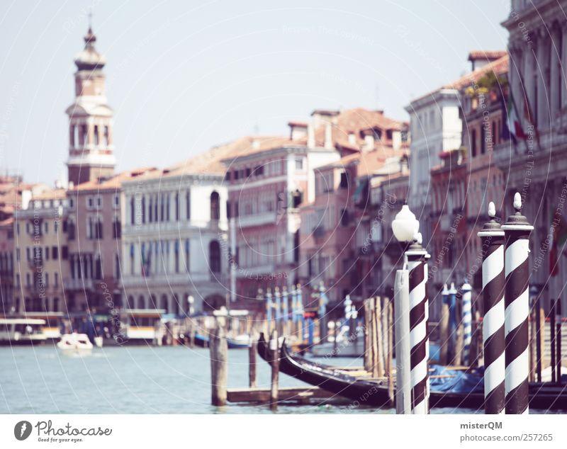 Vacation & Travel City Architecture Style Art Facade Esthetic Tower Italy Historic Summer vacation Footbridge Jetty Wanderlust Venice Ferry