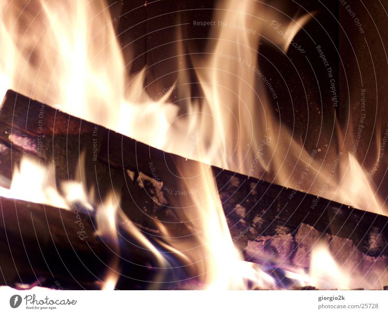Red Black Wood Blaze Fire Hot Chimney Burn Flame Carbon