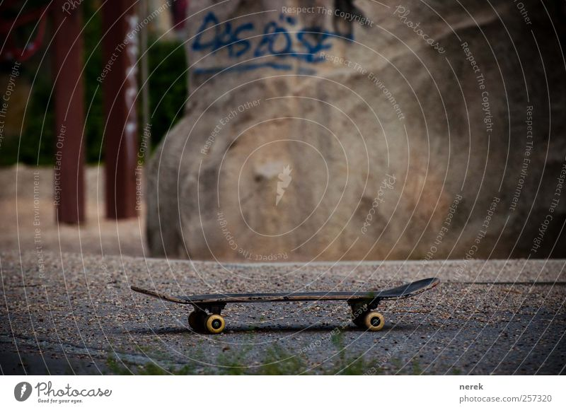 Evil Lifestyle Design Joy Skateboard Skateboarding Funsport Graffiti Playground Relaxation Playing Threat Hip & trendy Brown Gray Red Fear Dangerous Aggression