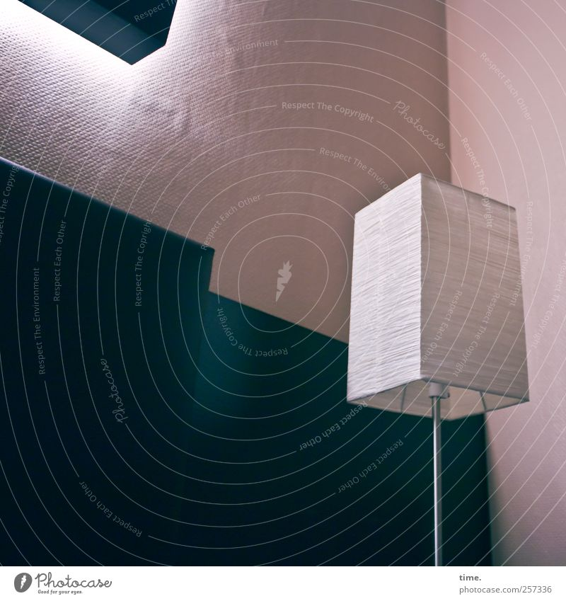 Green Cold Wall (building) Lamp Moody Room Pink Elegant Interior design Esthetic Illuminate Metalware Wallpaper Complex Wallpaper pattern Corner of the room
