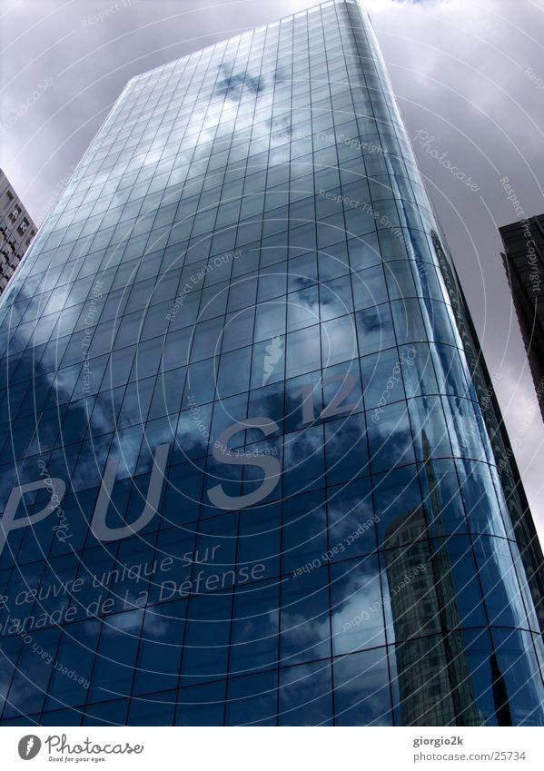 Sky City Clouds Building Architecture Glass High-rise Paris France