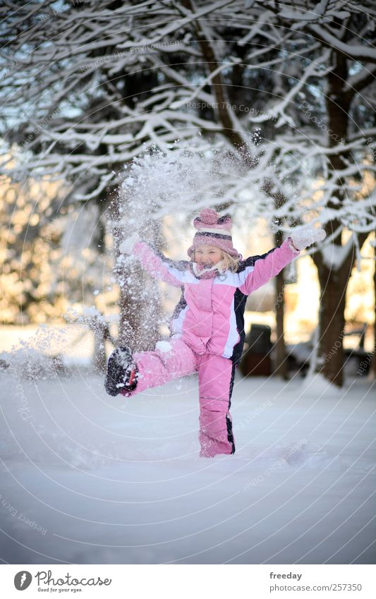 Child Nature Vacation & Travel Hand Tree Girl Joy Winter Life Snow Playing Freedom Healthy Garden Feet Ice