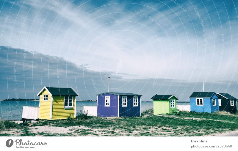 Beach houses on the Danish island of Ærø Vacation & Travel Tourism Trip Far-off places Freedom Summer Summer vacation Ocean Island Landscape Sand Weather Coast