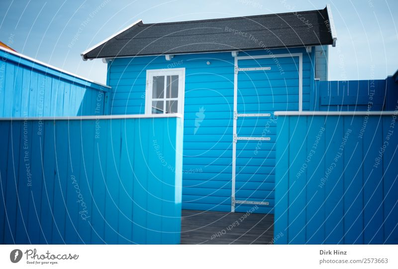 Blue House (Residential Structure) Window Wall (building) Building Wall (barrier) Facade Door Cute Closed Protection Manmade structures Village Hut Terrace