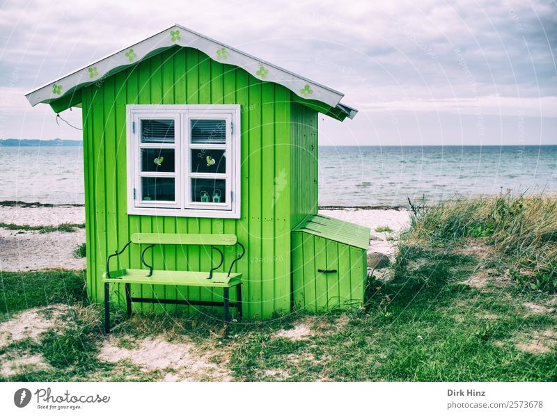 Beach house on the Danish island Ærø Vacation & Travel Tourism Trip Far-off places Freedom Summer vacation Ocean Island Waves Nature Landscape Clouds Horizon