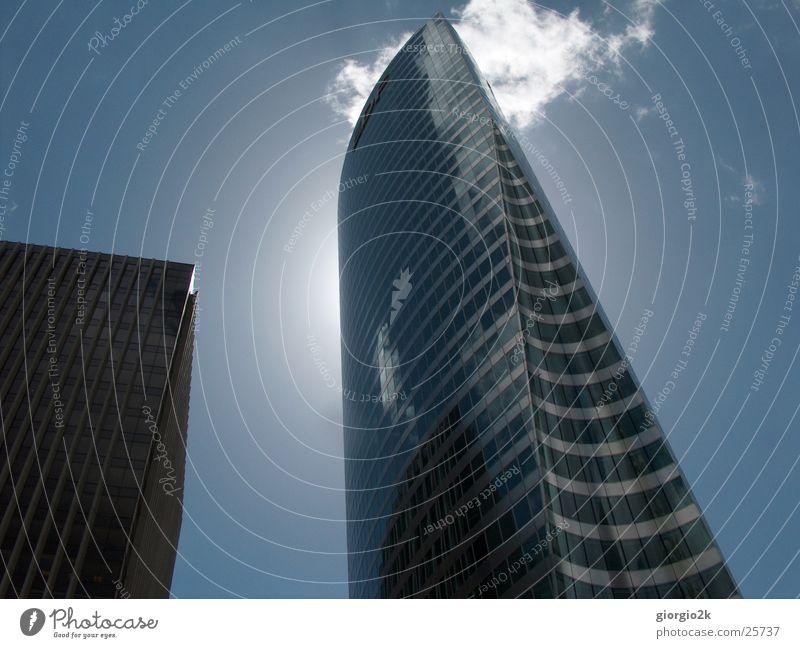 Sky Sun City Clouds Building Architecture Glass High-rise Paris France