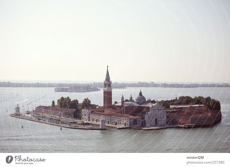 An island. Art Vacation & Travel Venice Veneto Italy Island Rich Luxury San Giorgio Maggiore Port City Travel photography Tourist Attraction Town City trip