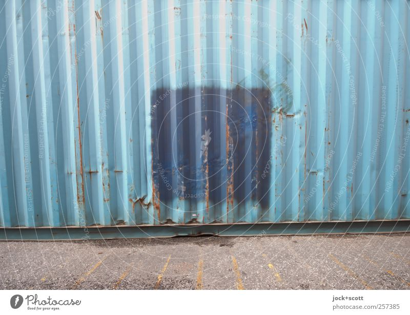 Blue Loneliness Bright Line Metal Together Modern Esthetic Concrete Stripe Break Contact Firm Rust Square Opinion
