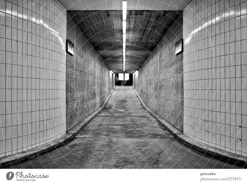 Cold Wall (building) Building Architecture Wall (barrier) Business Success Empty Beginning Level New Middle Tile Traffic infrastructure Motionless Tunnel