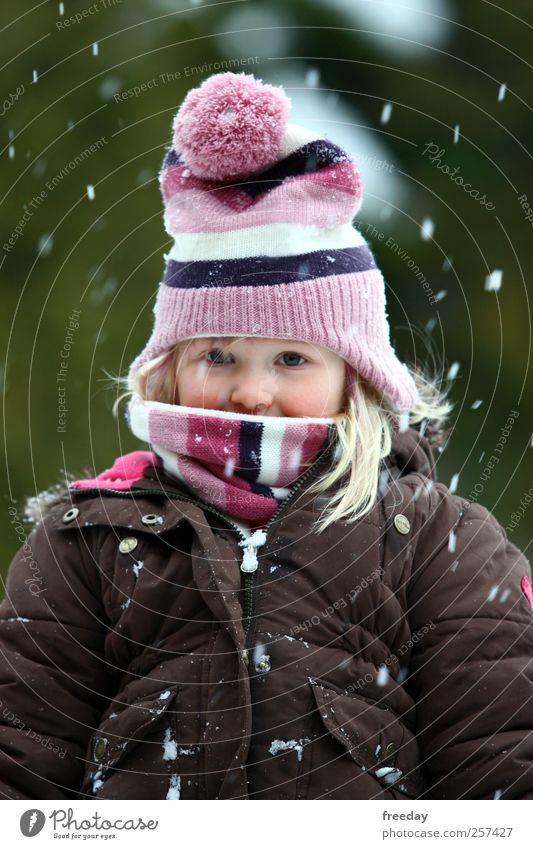 Child Vacation & Travel Green Beautiful Joy Girl Winter Face Life Snow Park Infancy Stand Happiness Wait Climate